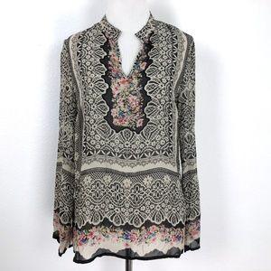 Sundance Silk Printed Boho Shirt